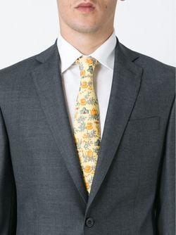 Tea Pot Motif Tie Hermès Vintage                                                                                                              желтый цвет
