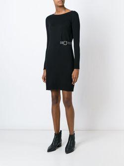 Платье С Запахом С Пряжкой Michael Michael Kors                                                                                                              чёрный цвет