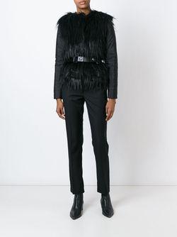 Куртка Из Искусственного Меха С Поясом Michael Michael Kors                                                                                                              чёрный цвет