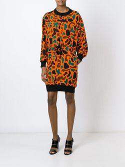 Платье-Толстовка С Узором Moschino                                                                                                              желтый цвет