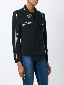 Двубортная Куртка Moschino                                                                                                              черный цвет