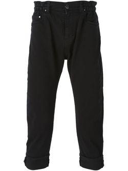 Turn Up Hem Cropped Jeans Les Hommes                                                                                                              черный цвет