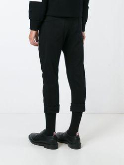 Turn Up Hem Cropped Jeans Les Hommes                                                                                                              чёрный цвет