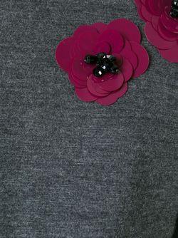 Свитер С Цветочной Аппликацией ERIKA CAVALLINI SEMICOUTURE                                                                                                              серый цвет
