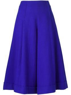 Широкие Кюлоты ERIKA CAVALLINI SEMICOUTURE                                                                                                              синий цвет
