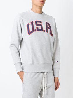 Толстовка С Вышивкой Usa Champion                                                                                                              серый цвет