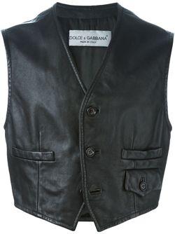 Buttoned Gilet Dolce & Gabbana                                                                                                              чёрный цвет