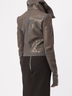 Sequinned Biker Jacket Rick Owens                                                                                                              зелёный цвет
