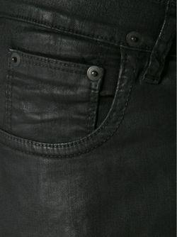 Вощеные Джинсы Кроя Скинни RICK OWENS DRKSHDW                                                                                                              черный цвет