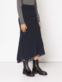 High Low Pleated Skirt Rick Owens                                                                                                              синий цвет