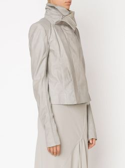 Байкерская Куртка С Драпированным Воротником Rick Owens                                                                                                              белый цвет