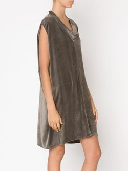 Платье С Воротником-Хомутом Rick Owens                                                                                                              серый цвет