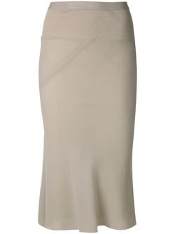Pleated Panel Pencil Skirt Rick Owens                                                                                                              белый цвет