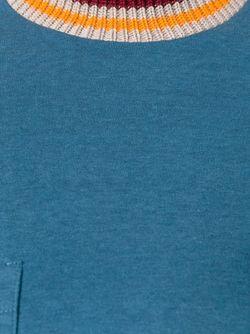 Свитер С Контрастной Горловиной Marni                                                                                                              синий цвет