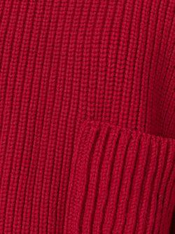 Свитер С Круглым Вырезом И Накладными Карманами Philosophy di Lorenzo Serafini                                                                                                              красный цвет