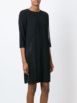 Panelled Sheer Detail Dress DKNY                                                                                                              черный цвет