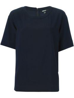Футболка С Круглым Вырезом DKNY                                                                                                              синий цвет