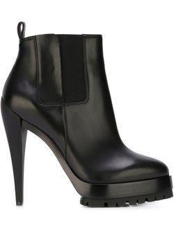 Ботинки На Платформе Casadei                                                                                                              чёрный цвет