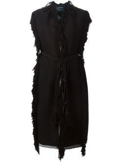 Пальто Без Рукавов С Бахромой Lanvin                                                                                                              черный цвет
