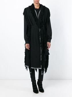 Пальто Без Рукавов С Бахромой Lanvin                                                                                                              чёрный цвет