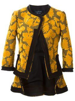 Блейзер С Цветочным Узором Lanvin                                                                                                              желтый цвет