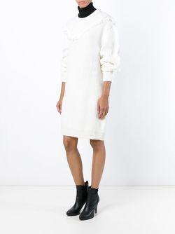 Fringed Sweater Dress Kenzo                                                                                                              белый цвет