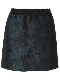 Bamboo Tiger Mini Skirt Kenzo                                                                                                              синий цвет