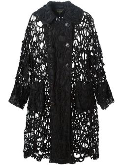 Cut-Out Woven Cardi-Coat Comme Des Garcons                                                                                                              чёрный цвет