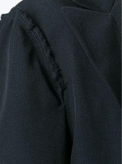 Однобортное Пальто Yohji Yamamoto                                                                                                              чёрный цвет