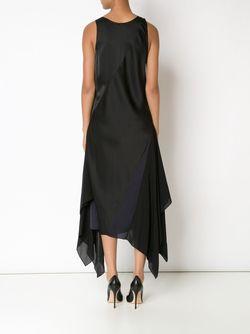 Асимметричное Платье С V-Образным Вырезом TOME                                                                                                              черный цвет
