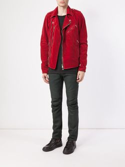 Biker Jacket Balmain                                                                                                              красный цвет