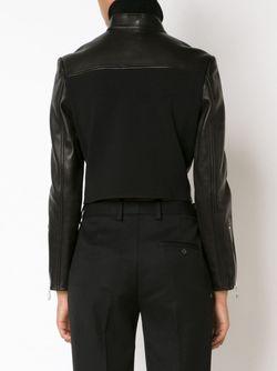 Укороченная Байкерская Куртка Alexander Wang                                                                                                              черный цвет