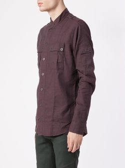 Mandarin Collar Shirt Balmain                                                                                                              розовый цвет
