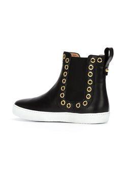 Ботинки По Щиколотку С Люверсами BOUTIQUE MOSCHINO                                                                                                              чёрный цвет