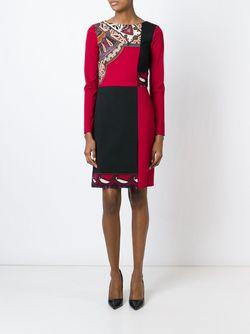 Платье С Панельным Дизайном Etro                                                                                                              красный цвет