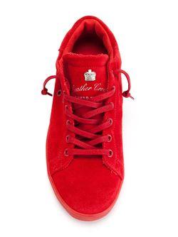 Кеды С Логотипом Leather Crown                                                                                                              красный цвет