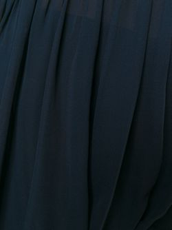 Драпированная Прозрачная Блузка ERIKA CAVALLINI SEMICOUTURE                                                                                                              синий цвет