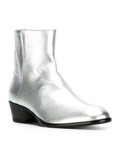 Ботинки По Щиколотку На Массивном Каблуке Maison Margiela                                                                                                              серый цвет