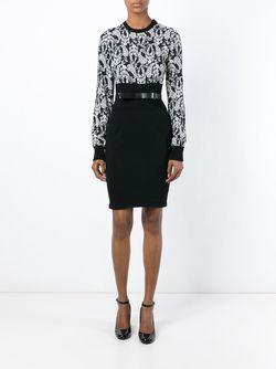 Print Panelled Dress Dolce & Gabbana                                                                                                              чёрный цвет