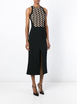 Geometric Pattern Top Fitted Dress David Koma                                                                                                              чёрный цвет