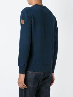 Толстовка С Круглым Вырезом Woolrich                                                                                                              синий цвет
