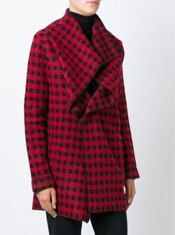 Checked Draped Jacket Woolrich                                                                                                              красный цвет