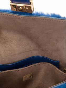 Мини Сумка Baguette Через Плечо Fendi                                                                                                              синий цвет