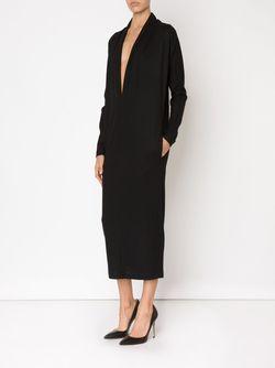 Платье С Глубоким V-Образным Вырезом ZAID AFFAS                                                                                                              чёрный цвет
