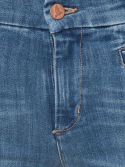 Расклешенные Выбеленные Джинсы Mih Jeans                                                                                                              синий цвет