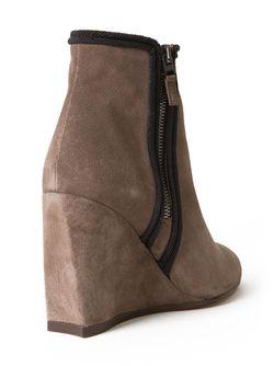 Ботинки На Танкетке С Контрастной Окантовкой Lanvin                                                                                                              серый цвет