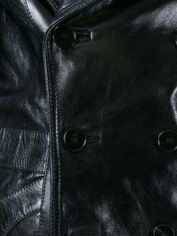 Тренч С Воротником Из Овчины Maison Margiela                                                                                                              черный цвет