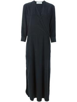 Длинное Платье C V-Образным Вырезом SOCIETE ANONYME                                                                                                              чёрный цвет