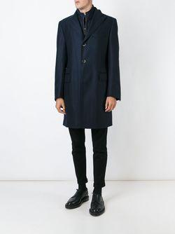 Однобортное Пальто Corneliani                                                                                                              черный цвет