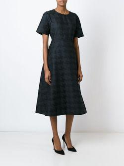 Жаккардовое Платье В Ломанную Клетку Sofie D'Hoore                                                                                                              чёрный цвет